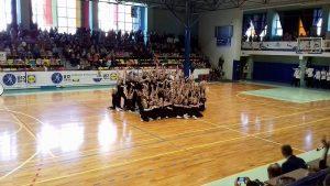 Lazdijų sporto centro aerobinės gimnastikos komanda – masiškiausia Gimnastiadoje!