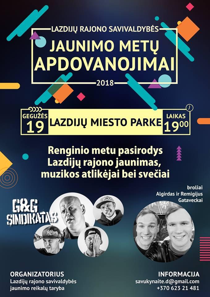Renginio metu pasirodys broliai Algirdas ir Remigijus Gataveckai ir G&G sindikatas!