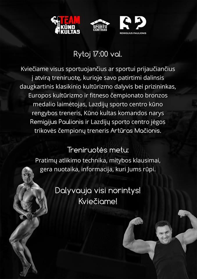 Jau rytoj 17:00 val, bendra Lazdijų sporto centro trenerių treniruotė Veisiejų sporto salėje