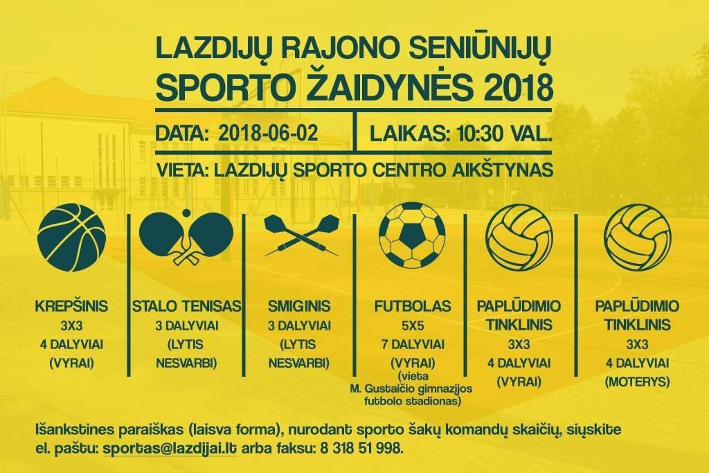 Lazdijų rajono seniūnijų sporto žaidynės 2018!