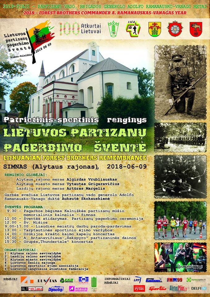 Kviečiame registruotis į Lietuvos partizanų pagerbimo šventės bėgimą