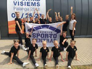 """Read more about the article Aerobinės gimnastikos sportininkai festivalyje """"Sportas visiems – Palanga 2018"""""""