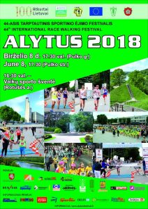 """Tarptautinis sportinio ėjimo festivalis """"Alytus 2018"""""""