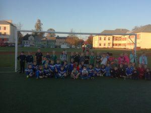Jaunųjų futbolininkų varžybos Lazdijų sporto centro taurėms laimėti
