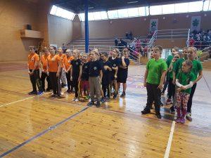 Lazdijų sporto centre vyko Lazdijų rajono 3-4 klasių moksleivių kvadrato varžybos