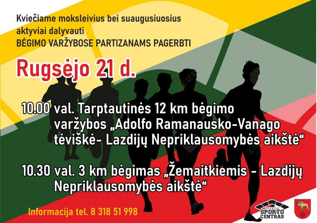 Read more about the article Bėgimo varžybos partizanams pagerbti!