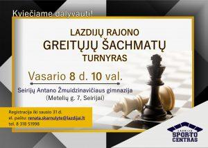 Read more about the article Greitųjų šachmatų turnyras!