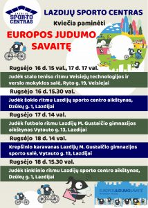 Read more about the article EUROPOS JUDUMO SAVAITĖ!