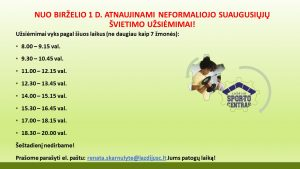Read more about the article ATNAUJINAMI UŽSIĖMIMAI!